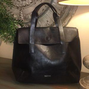 Kenneth Cole Reaction oversized black leather bag